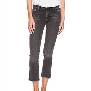 Free People Cropped Flare Jeans Skinny Mid Rise